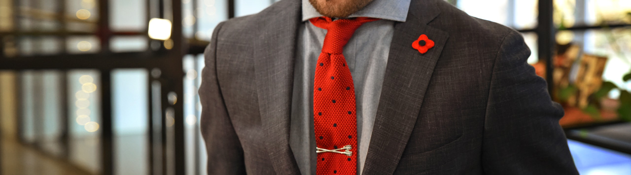 Neckties knitted