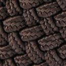 Braided belt dark brown