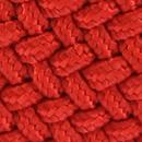 Braided belt vermilion red