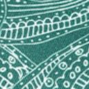 Sir Redman deluxe suspenders Paisley Sketch green