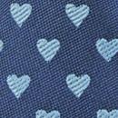 Mini tie keychain hearts blue