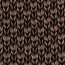 Necktie knitted dark brown