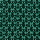 Necktie knitted bottle green