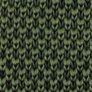 Necktie knitted forest green