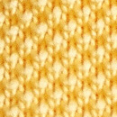 Necktie knitted yellow