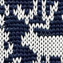 Necktie Rudolph Reindeer blue