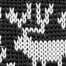 Necktie Rudolph Reindeer black