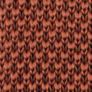 Sir Redman knitted tie rust brown