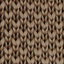 Necktie knitted warm taupe