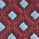 Necktie pattern aubergine light blue