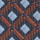 Necktie pattern navy rust
