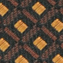 Necktie pattern black ochre