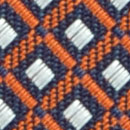 Necktie pattern orange white