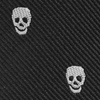 Mini tie keychain skulls black