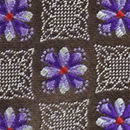 Necktie Flower Square