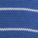 Necktie knitted blue striped
