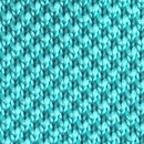Necktie knitted turquoise