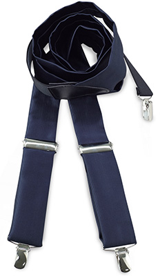Suspenders tie fabric navy