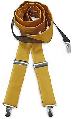 Suspenders tie fabric yellow