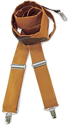 Suspenders tie fabric ocher