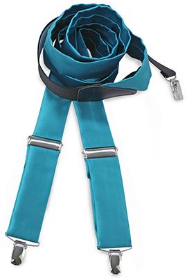Suspenders tie fabric turkoois