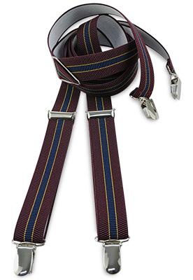 Suspenders bordeaux stripe