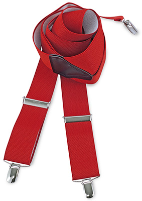 Suspenders red