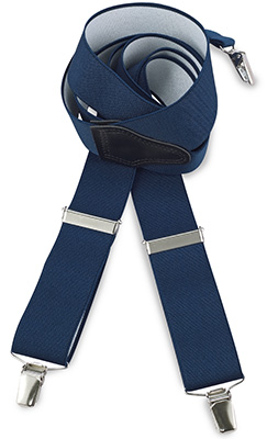 Suspenders navy blue
