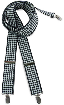 Suspenders Houndstooth