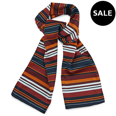 Scarf red striped