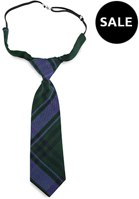 Children necktie short Classic Madras