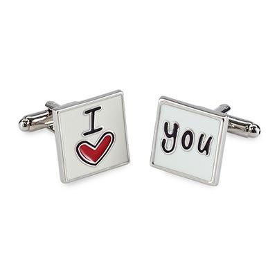 Cuff links I love you