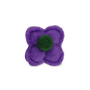 Lapel pin felt flower short
