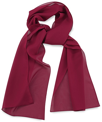 Scarf uni bordeaux red