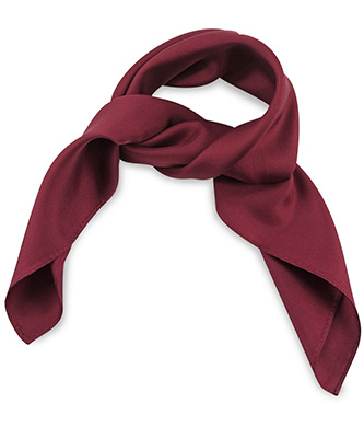 Scarf silk bordeaux red