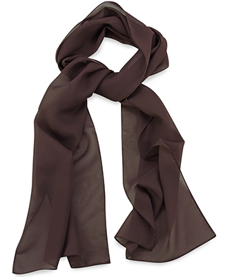 Scarf chocolate brown