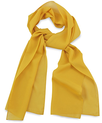 Scarf uni yellow