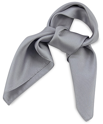 Scarf silk grey