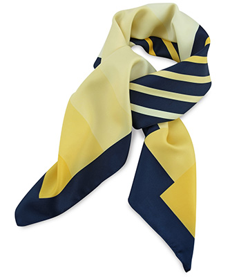 Scarf yellow / blue / white