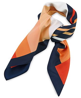 Scarf orange striped