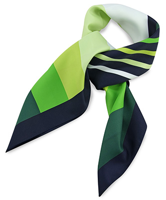 Scarf green striped