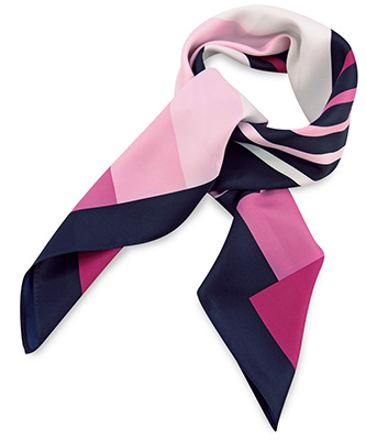 Scarf pink striped