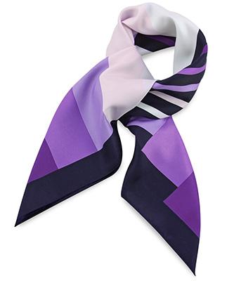 Scarf purple striped