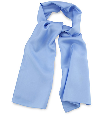 Scarf light blue uni