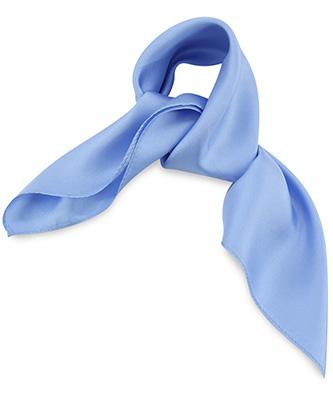Scarf silk light blue