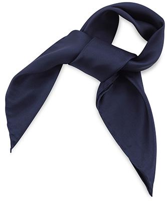 Scarf silk blue