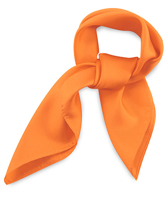 Scarf silk orange