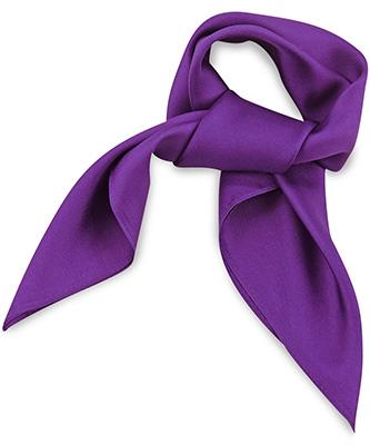 Scarf silk purple