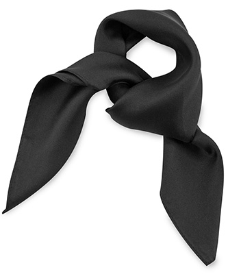 Scarf silk black