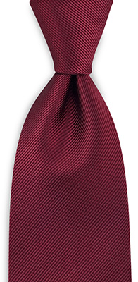 Necktie repp bordeaux red